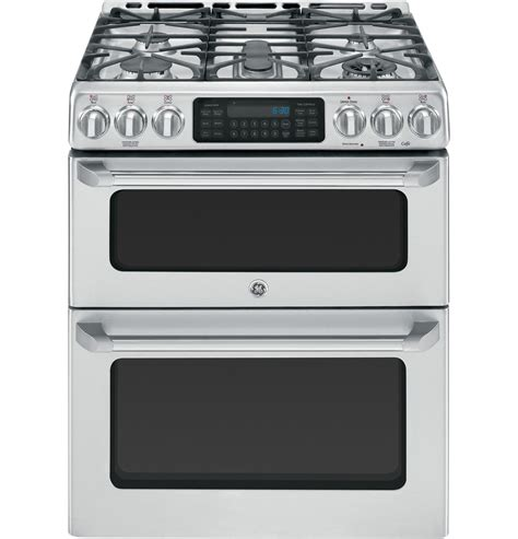 ge cafe 30 quot stainless oven gas range cgs990setss