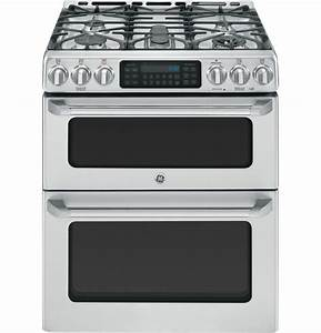 Ge Cafe 30 U0026quot  Stainless Double Oven Gas Range