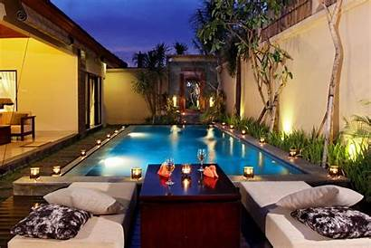 Night Pool Villa Beach Villas Bali Romantic