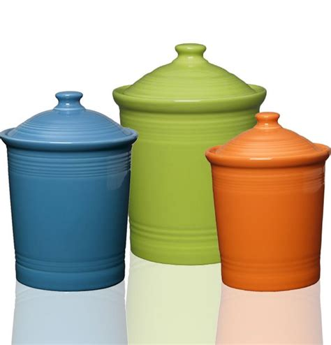 colorful kitchen canisters 234 best fiestaware items images on 2341