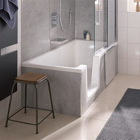 duschbadewanne mit tür hsk dusch badewanne dobla 170 cm einstieg links 540170 megabad