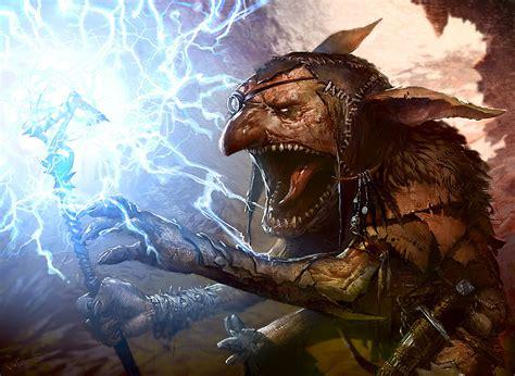 mtg art blisterstick shaman  mirrodin besieged set