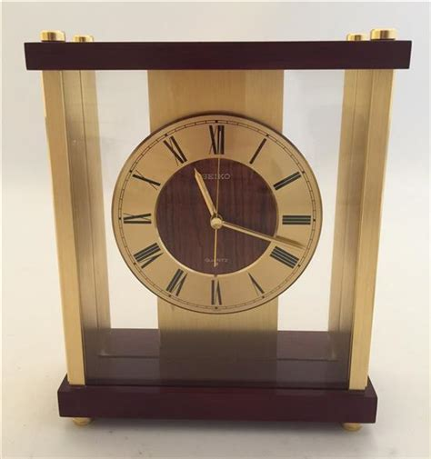 seiko brass desk clock seiko brass desk clock given to fred taylor as a quot participan