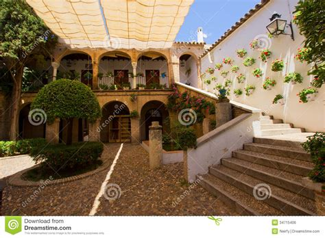 small house plans with courtyards courtyard of a typical house in cordoba stock photo