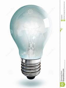 Light Bulb On White Background Stock Photo - Image: 35980500
