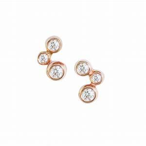 rose gold diamond stud earrings london road jewellery With diamond letter stud earrings