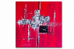 Tableau Contemporain Grand Format : tableau moderne carr rouge tendance tableau rouge moderne carr grand format ~ Teatrodelosmanantiales.com Idées de Décoration