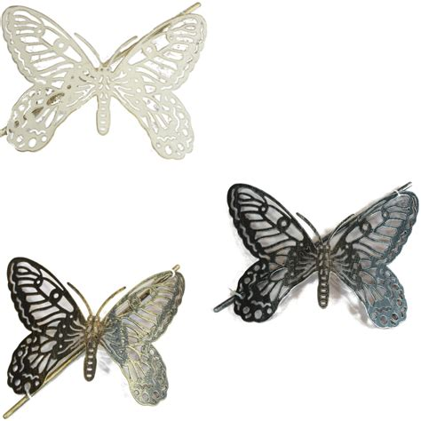 1x butterfly design metal window curtain tie back hold