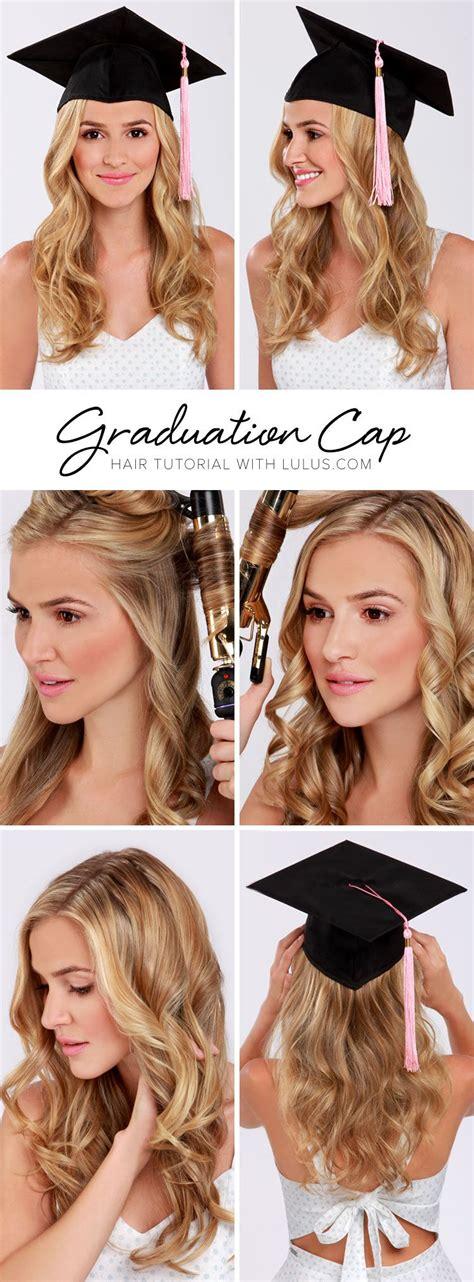 lulus   graduation cap hair tutorial cap