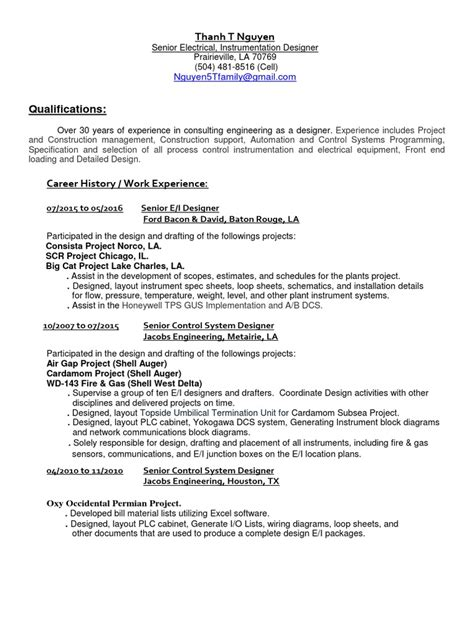 instrument commissioning engineer sle resume software