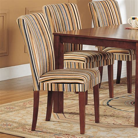 Kitchen Chair Upholstery by Oxford Creek Striped Upholstered Dining Chair Set Of 2