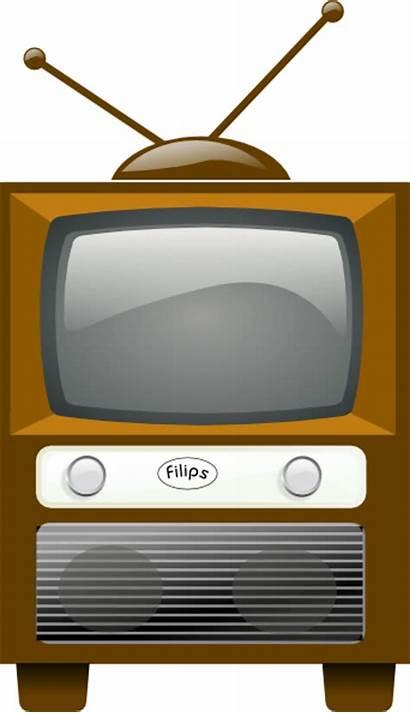 Tv Television Clip Antique Clipart Vector Cliparts