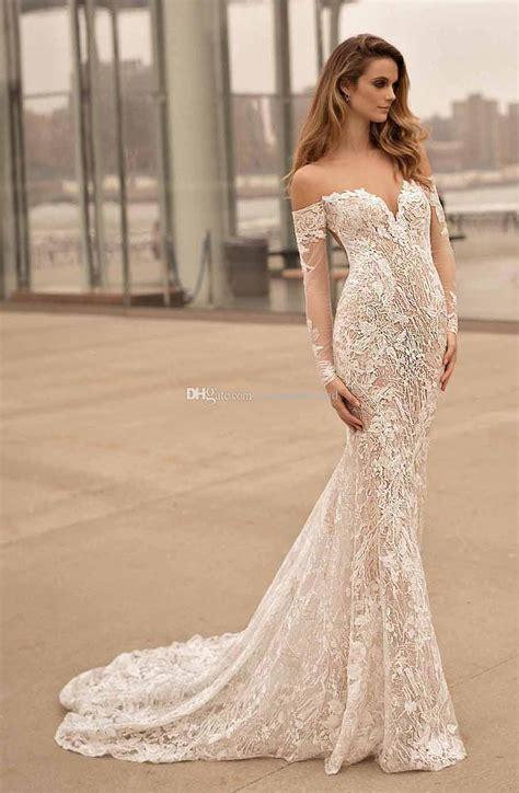 long sleeves   shoulder wedding dresses  berta