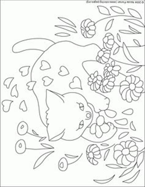 printable animal coloring pages cat  fish bowl hand