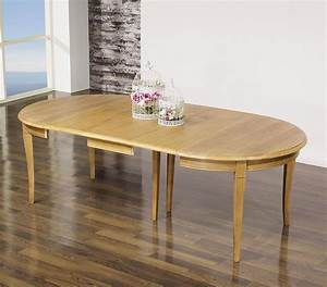 Table 16 Personnes : table ronde en ch ne massif de style louis philippe diametre 120 avec 5 allonges de 40 cm ~ Teatrodelosmanantiales.com Idées de Décoration