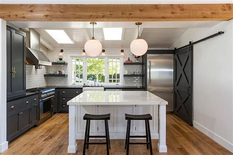 barn door style kitchen cabinets 25 trendy kitchens that unleash the of sliding barn 7598