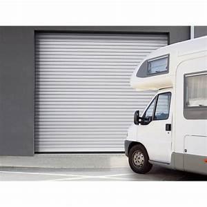 porte de garage a enroulement motorisee artens essentiel h With porte de garage 300 x 215