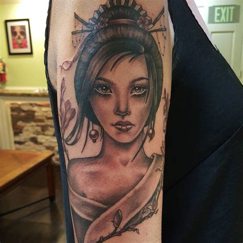 70+ Colorful Japanese Geisha Tattoos  Meanings And