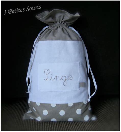 sac linge sale tissu sac 224 linge pois photo de pochons 3 petites souris