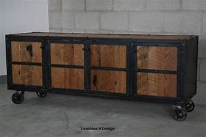 Buy a Hand Crafted Urban Vintage Industrial Media Console