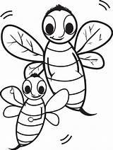 Bee Coloring Bumble Cartoon Bees Printable Drawing Rocks Getdrawings Getcolorings sketch template