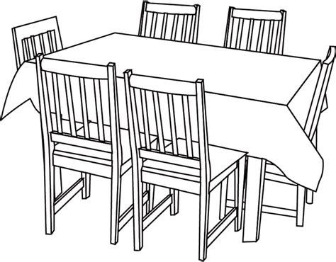 dessin d une chaise coloriage une table et des chaises dory fr coloriages