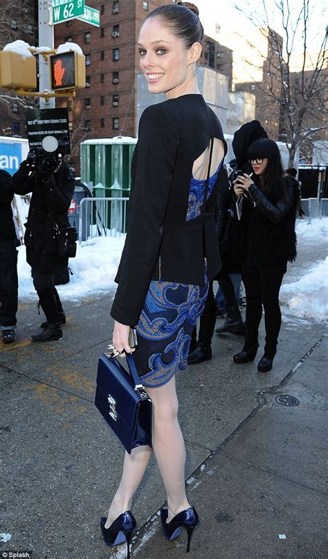 york fashion week  coco rocha flashes skin