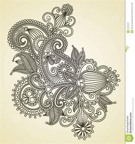 disegno decorato del fiore illustrazione vettoriale