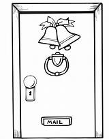 Door Christmas Coloring Pages Open Doors Printable Decorations Decorated Template Front Print Getcoloringpages Closed Window sketch template