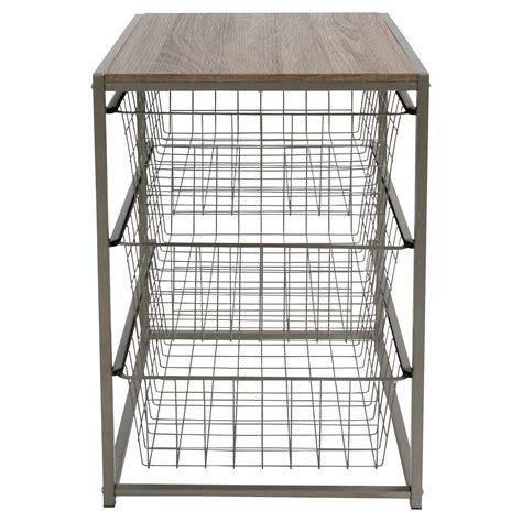Closet Organizer Baskets by 3 Drawer Closet Organizer Threshold Apartment Shopping