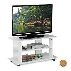 Tv Tisch Rollen : tv board lowboard tv m bel tv tisch fernsehtisch mit rollen tv regal tv kommode ebay ~ Watch28wear.com Haus und Dekorationen