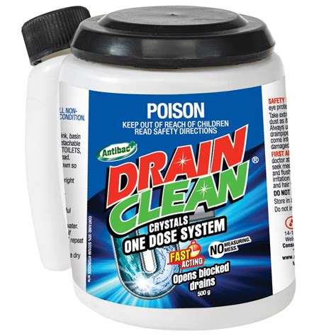 drain cleaning drain clean 500g one dose crystals bunnings warehouse