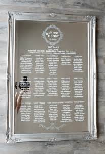 wedding table plan wedding mirror table plan glass table chart storey weddings