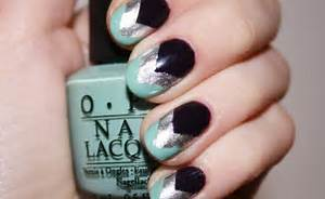Nail design using tape how to art
