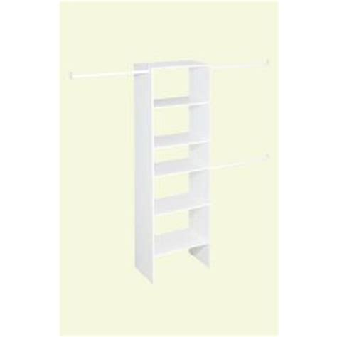 closetmaid selectives 25 in white custom closet organizer
