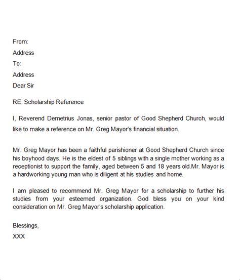 letter for scholarship recommendation letter for scholarship letter of