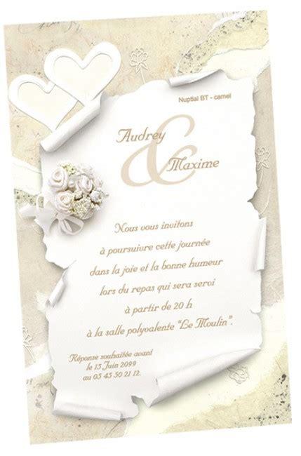 carte d invitation mariage carte d invitation mariage r 233 galb mod 232 le k644 avec