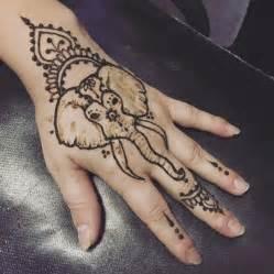 Simple Elephant Henna Tattoo