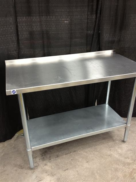 Stainless Steel Table With Backsplash : Stainless Steel Work Table With