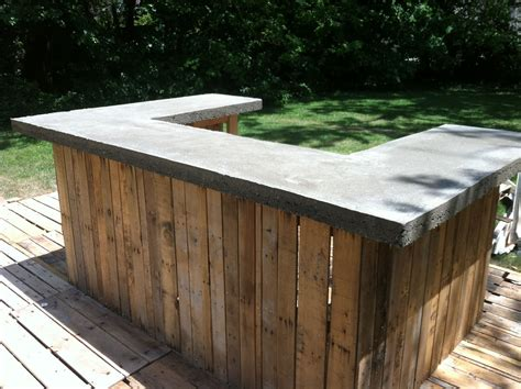Concrete Bar Top On My Outdoor Bar  The Shack Pinterest