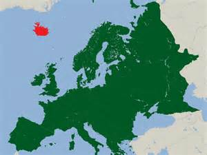 Iceland and Europe Map
