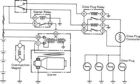 starting system circuit toyota land cruiser engine repair