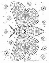Coloring Moth Pages Adults Dead Adult Intricate Woojr Coloringbay Halloween Only Print sketch template