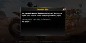 PUBG Mobile Update Servers To Go Offline For Several