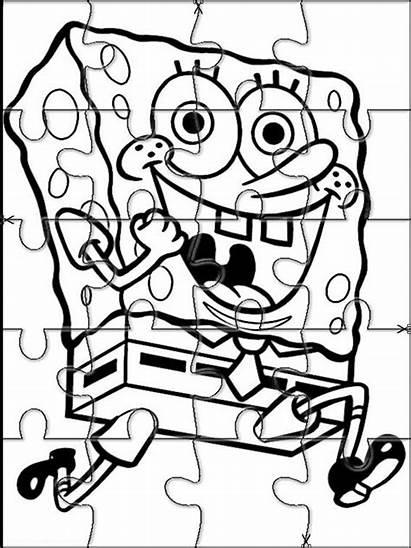 Puzzles Spongebob Bob Esponja Printable Cut Jigsaw
