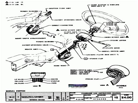 Chevy Steering Column Wiring Diagram by 1956 Chevy Steering Column Wiring Diagram Wiring Forums