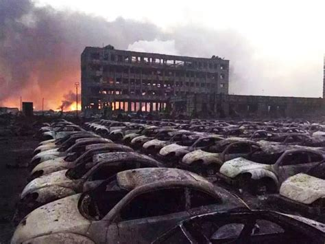 explosion  chinese city  tianjin burns dozens  vw