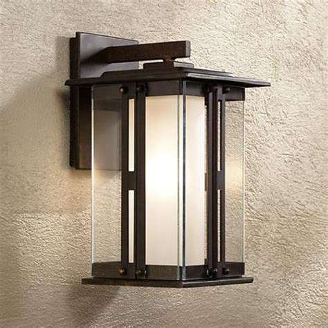 ls plus landscape lighting fallbrook collection 11 3 4 quot high bronze outdoor wall