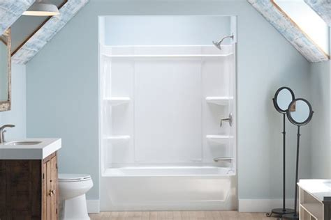 home depot shower enclosures prefab shower home depot sterling offers a caulk free shower installation builder