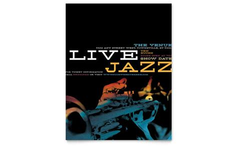 jazz  event flyer template design
